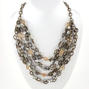 NWT! LOFT Statement Necklace Multi Chain
